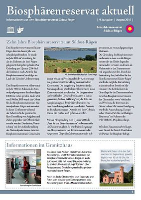 Biosphärenreservat aktuell August 2016